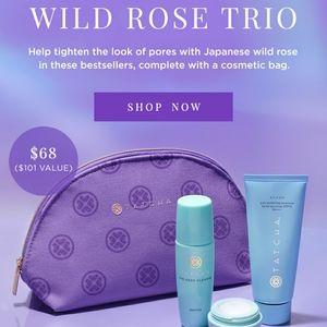 Tatcha Makeup - BNIB Tatcha Pure Poreless Wild Rose 3PC Set W/Bag!